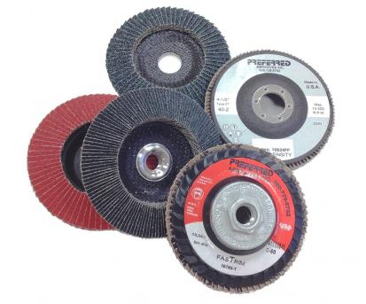 Five Norton grinding wheels