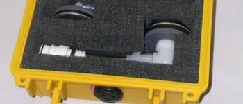 Adapter test kit that includes set of two adapter hoses and in a safe, secure storage case.